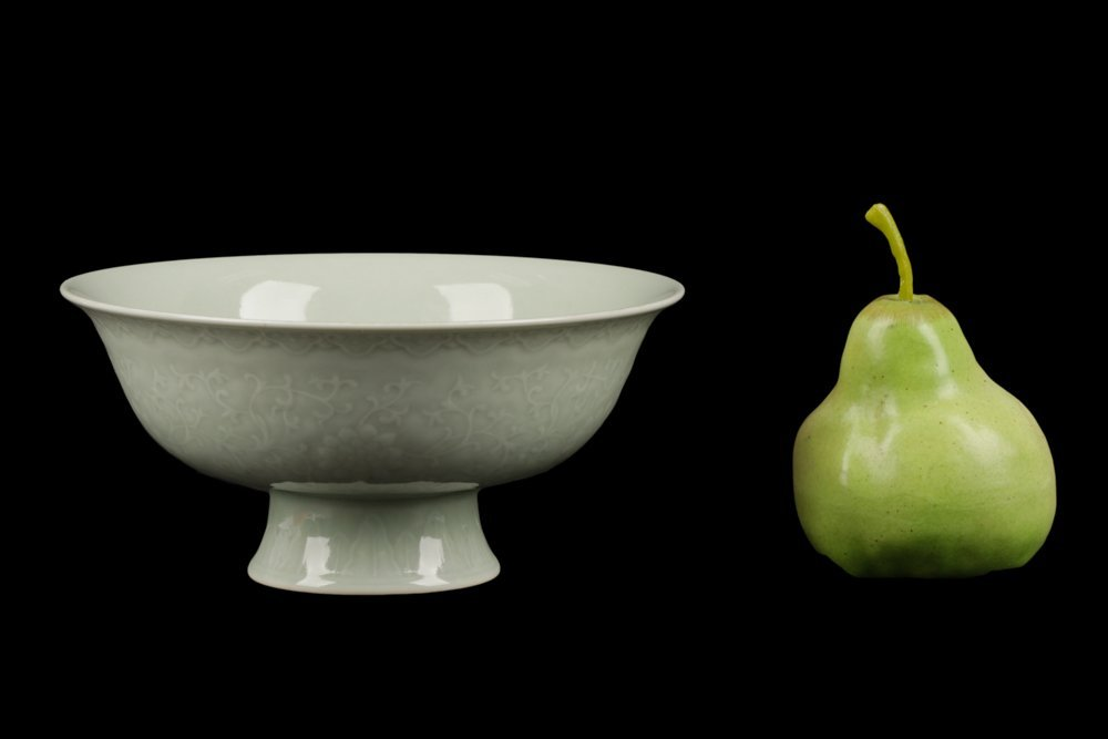 Chinese Celadon Glazed Shallow Bowl, Yongzheng - 8