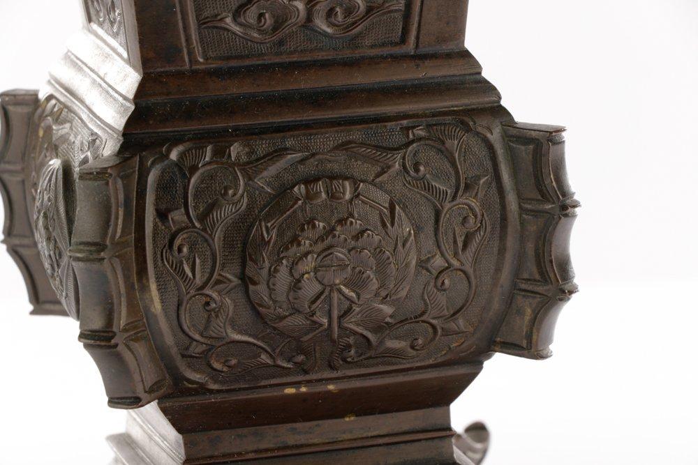 19th C. Japanese Gu Form Bronze Vase - 2