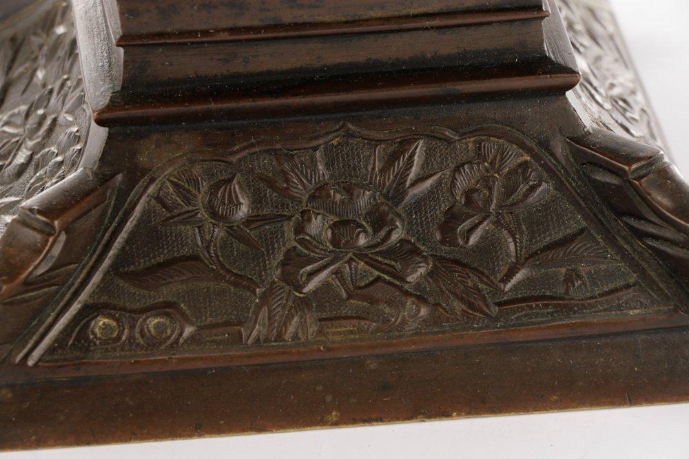 19th C. Japanese Gu Form Bronze Vase - 6