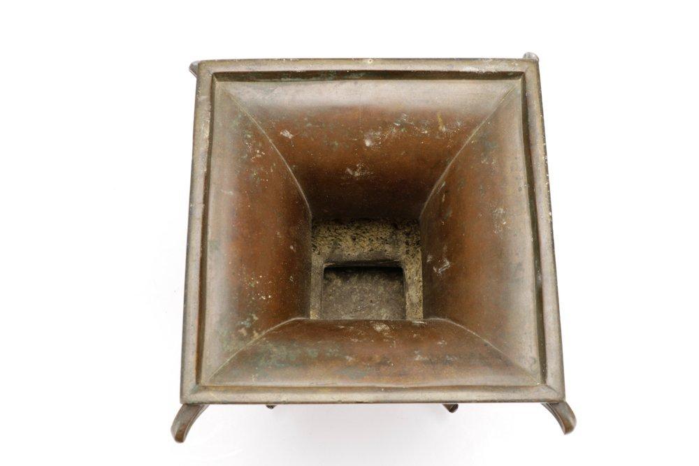 19th C. Japanese Gu Form Bronze Vase - 7
