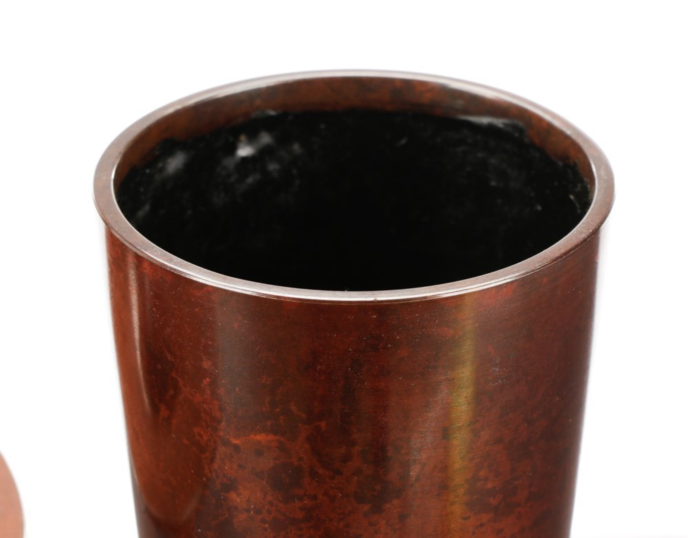 Japanese Patinated Metal Hanaire or Flower Vase - 3