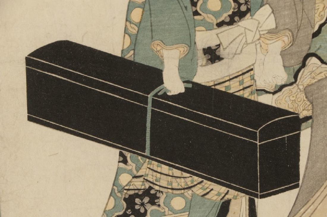 "Kitagawa Utamaro, ""Geisha with Shamisen""-Ca.1830 - 6"