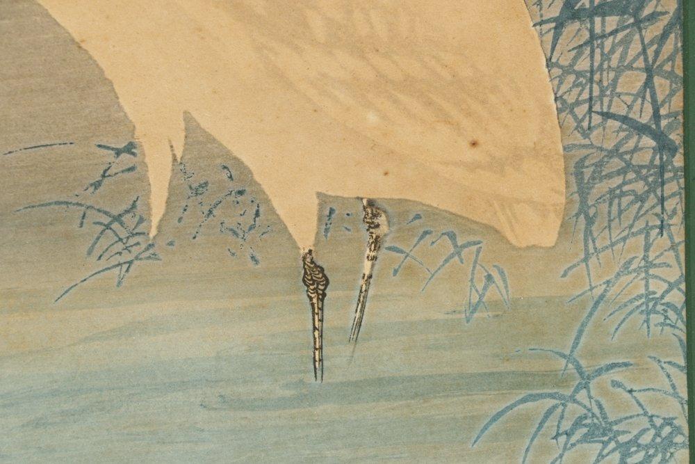 Three Early 20th C. Woodblock Prints of Herons - 4