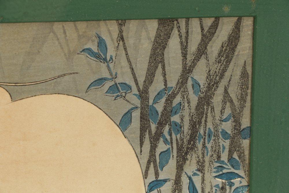 Three Early 20th C. Woodblock Prints of Herons - 7