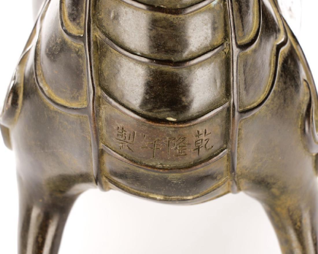 Chinese Figural Bronze Dragon Censor - 7