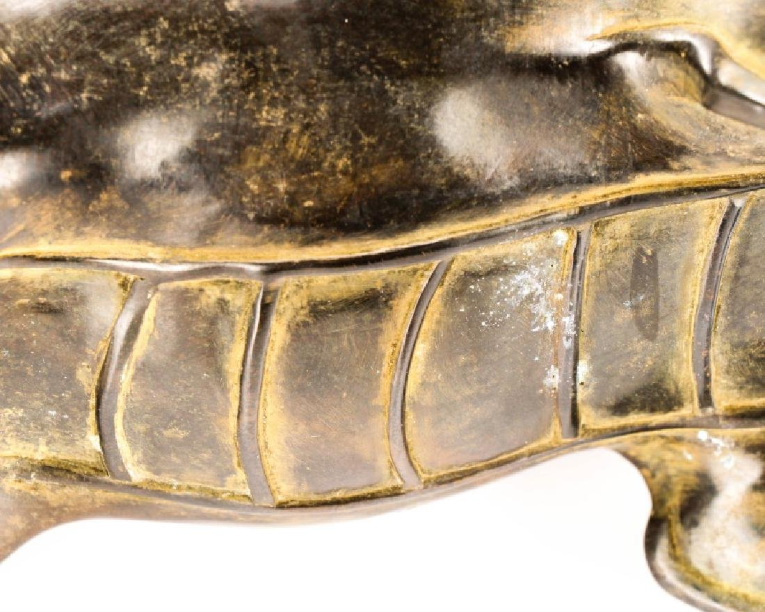 Chinese Figural Bronze Dragon Censor - 9