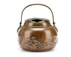 Chinese Turtle Motif Bronze Lidded Censer