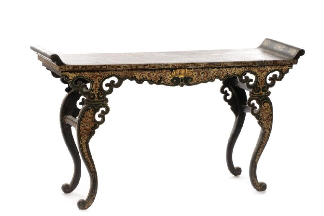 Chinese Lacquered Chinoiserie Motif Altar Table - 10
