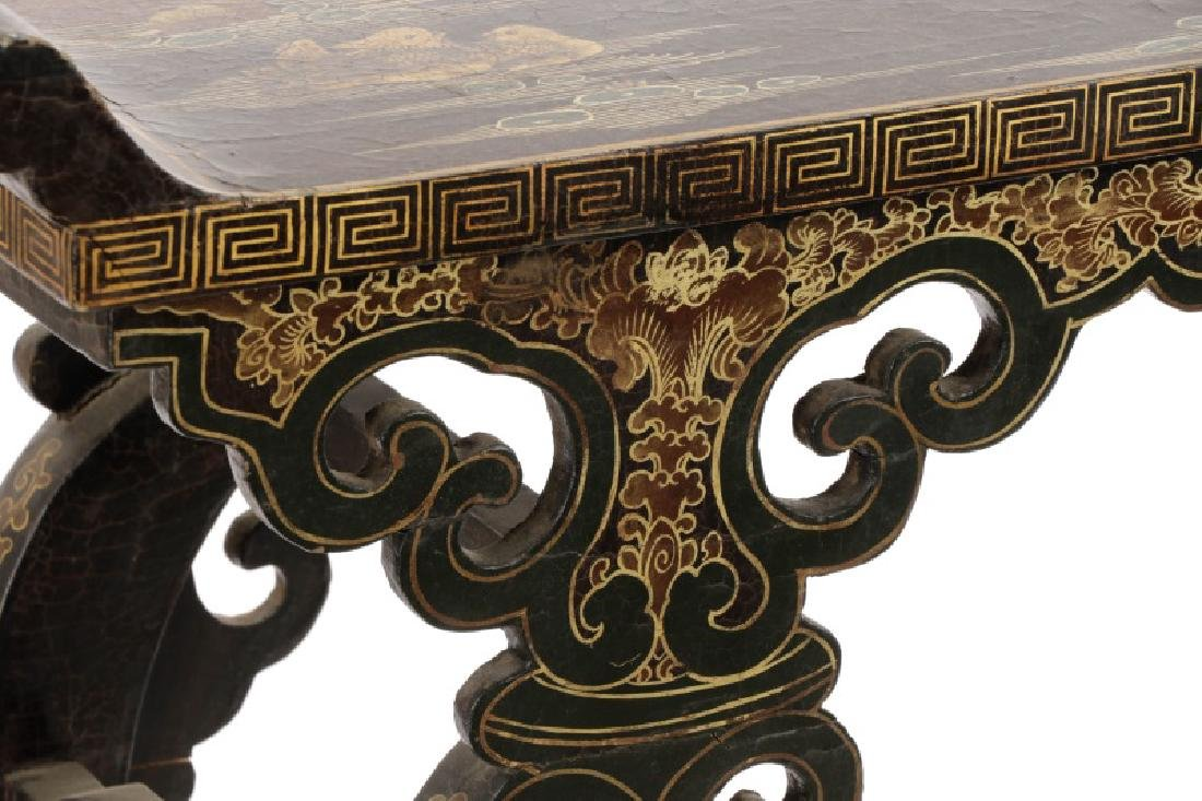 Chinese Lacquered Chinoiserie Motif Altar Table - 2