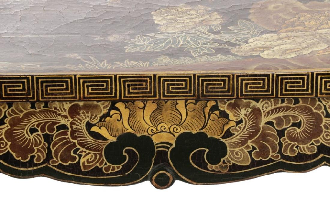 Chinese Lacquered Chinoiserie Motif Altar Table - 3