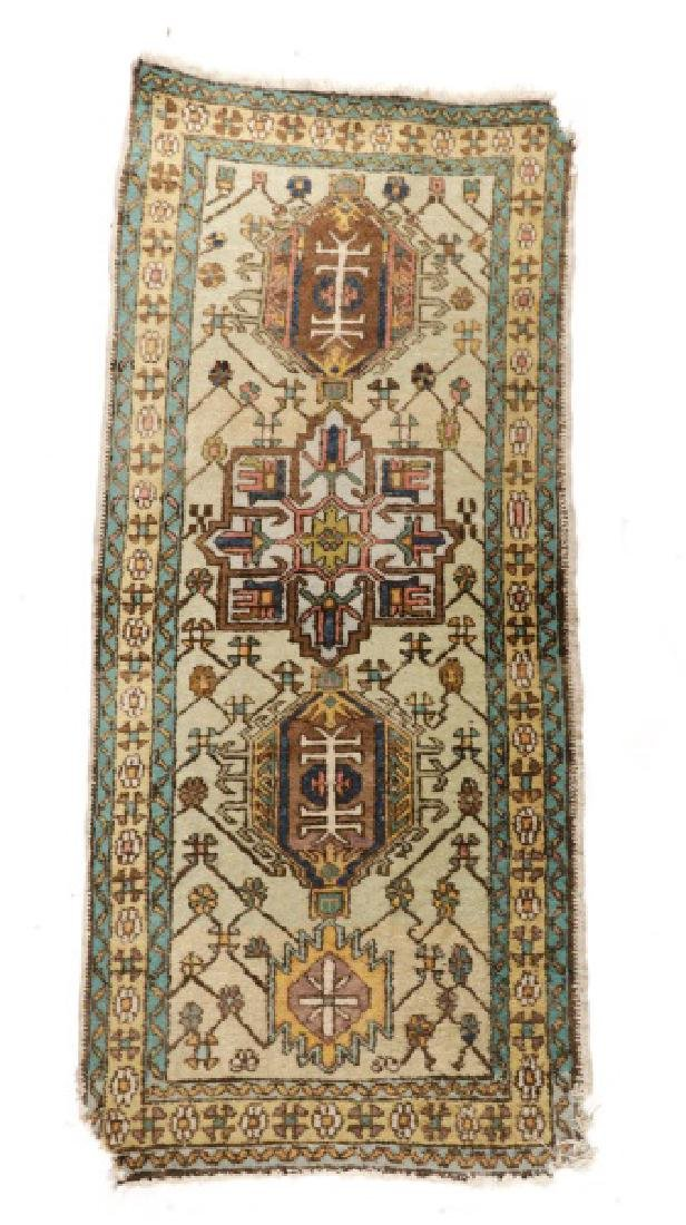 Hand Woven Semi Antique Turkish Runner