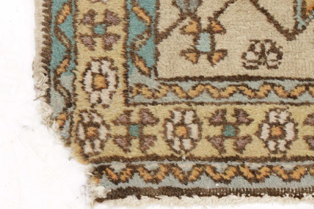 Hand Woven Semi Antique Turkish Runner - 7