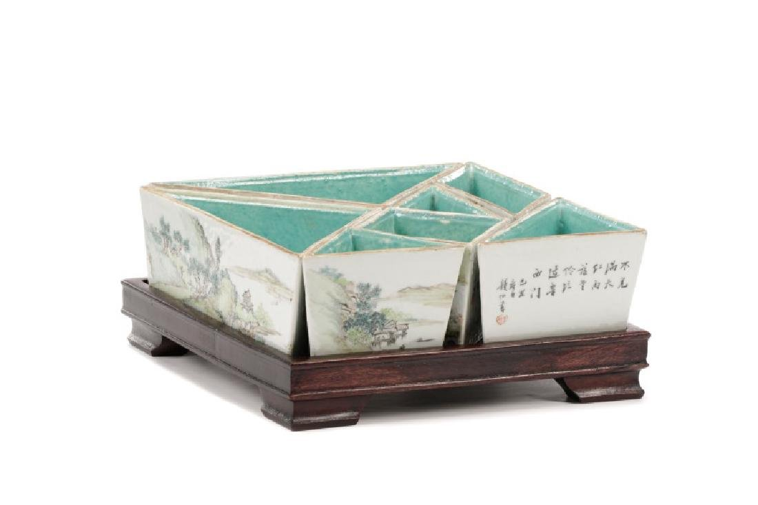 Chinese Seven Piece Sweetmeat on Stand