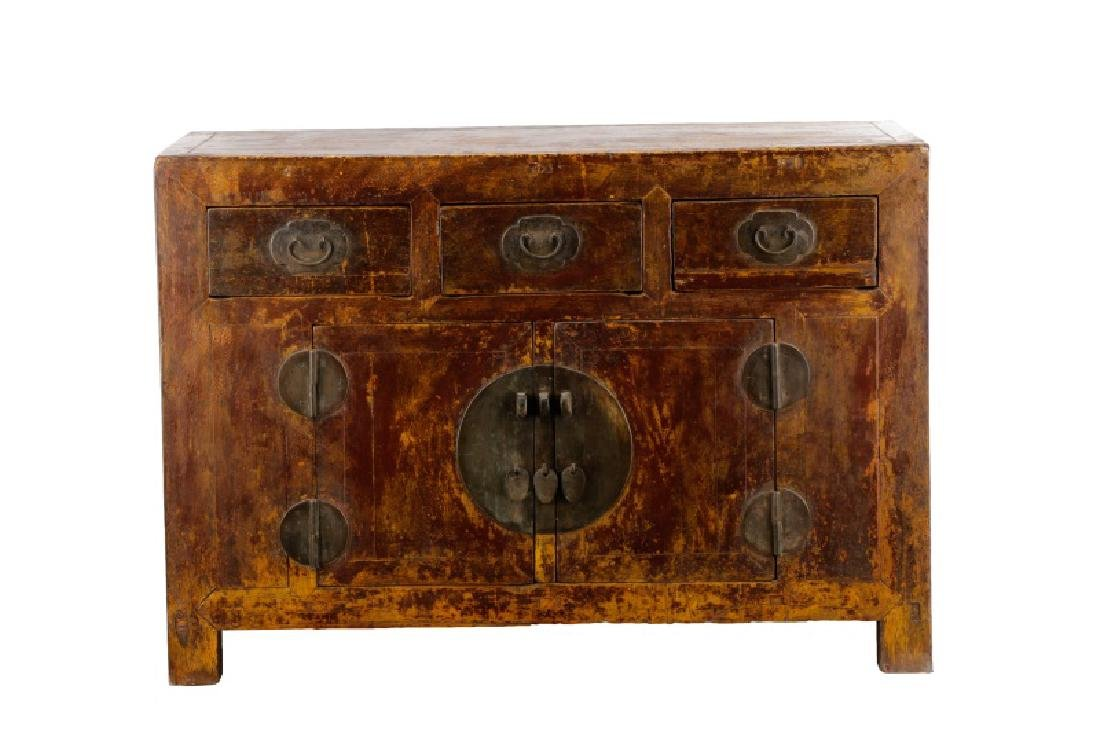 Distressed Lacquered Chinese Buffet
