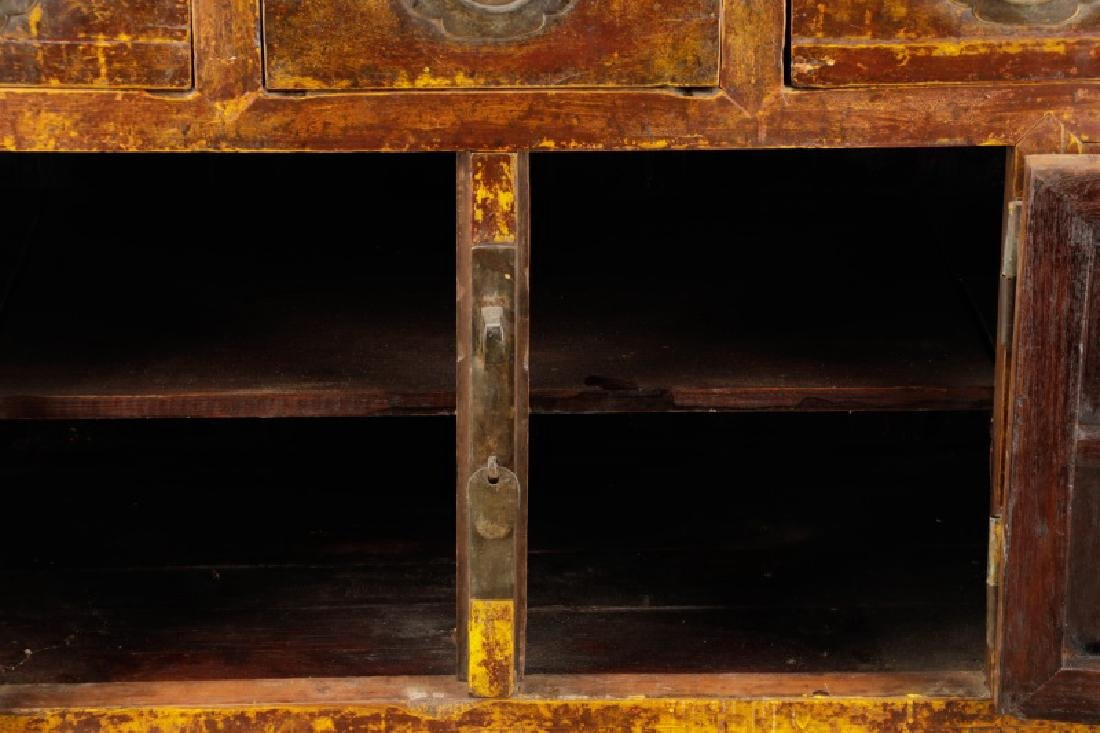 Distressed Lacquered Chinese Buffet - 6