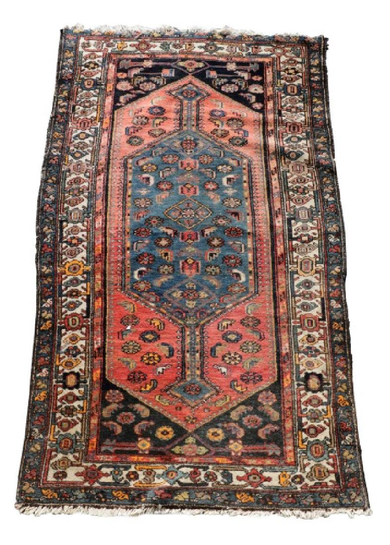 "Hand Woven Persian Tribal Rug, 4' 1"" x 7' 3"""