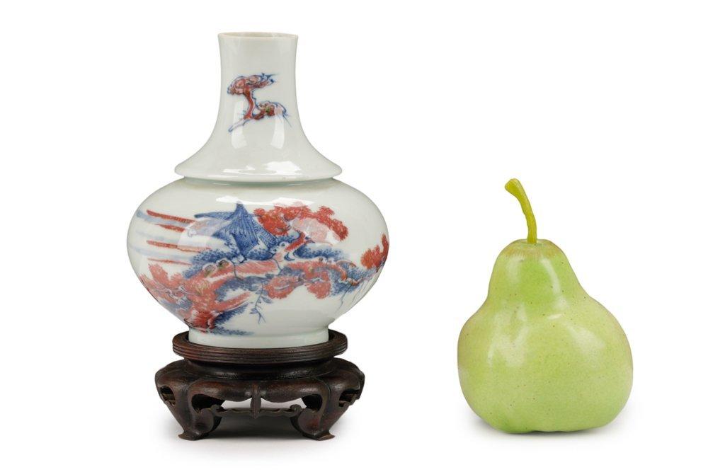Interesting Chinese Porcelain Vase, Kangxi Mark - 8