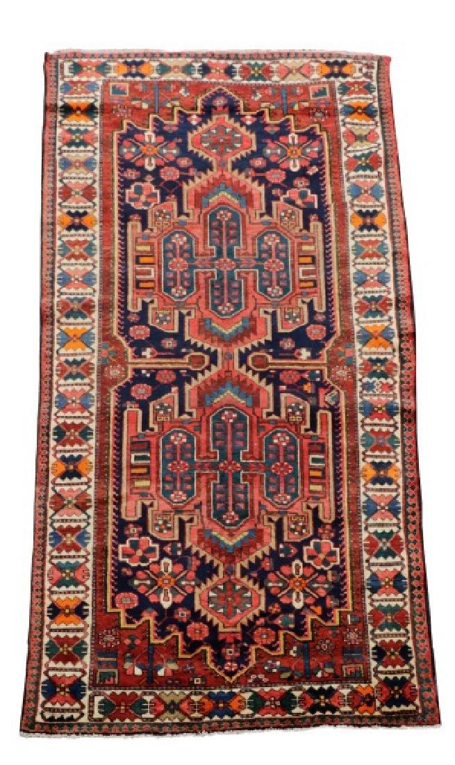 Hand Woven Semi Antique Persian Bahktiari Runner