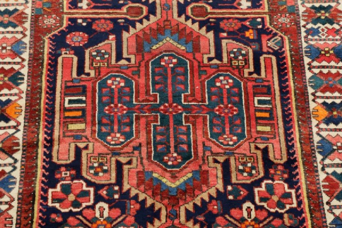 Hand Woven Semi Antique Persian Bahktiari Runner - 2