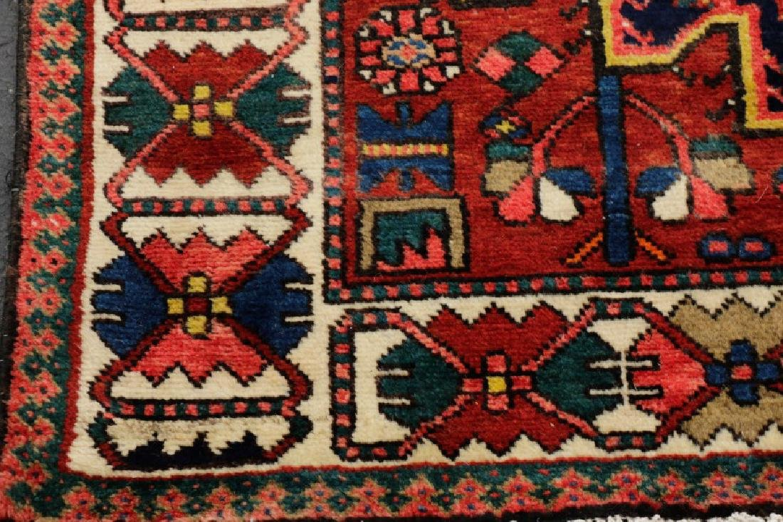 Hand Woven Semi Antique Persian Bahktiari Runner - 3