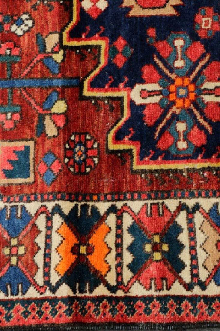 Hand Woven Semi Antique Persian Bahktiari Runner - 5