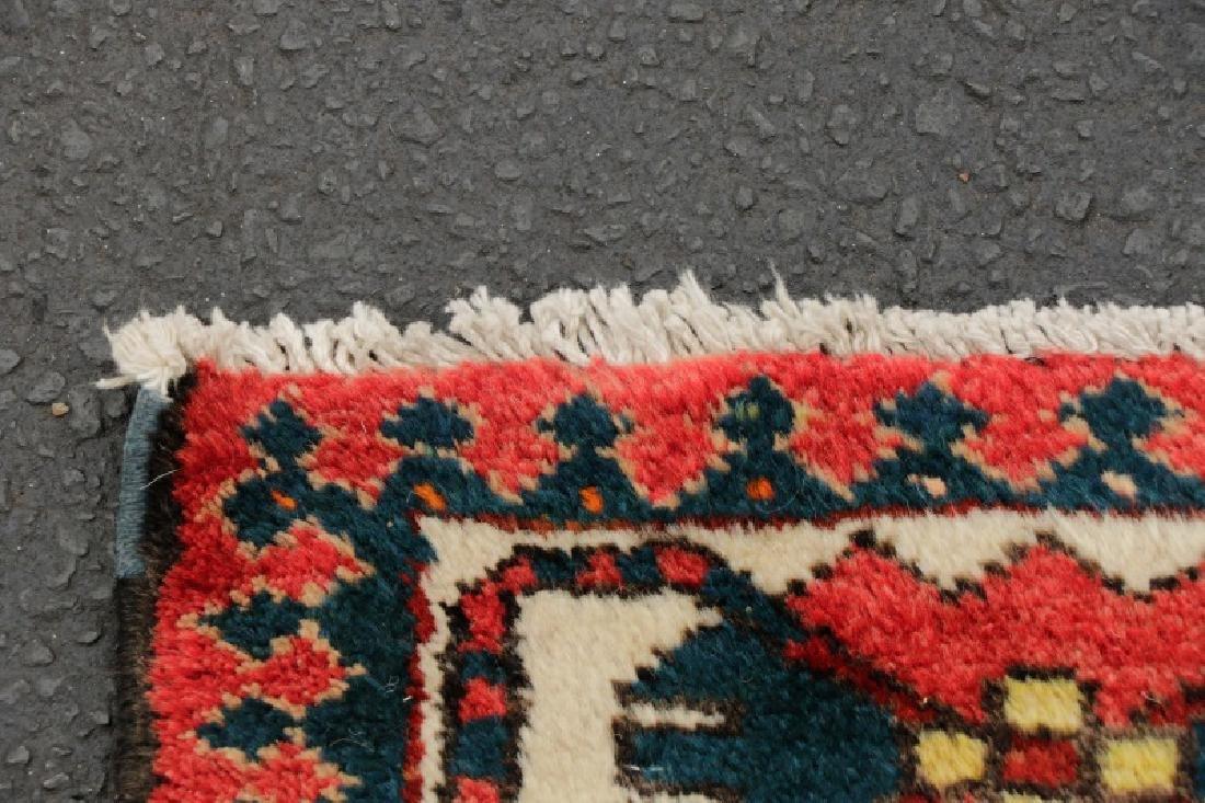 Hand Woven Semi Antique Persian Bahktiari Runner - 6