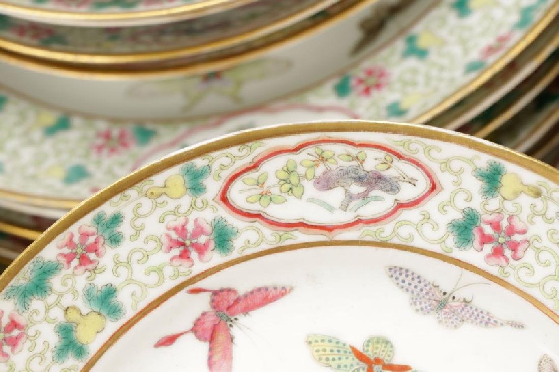 Famille Rose Partial Dinner Service, Guangxu Marks - 7