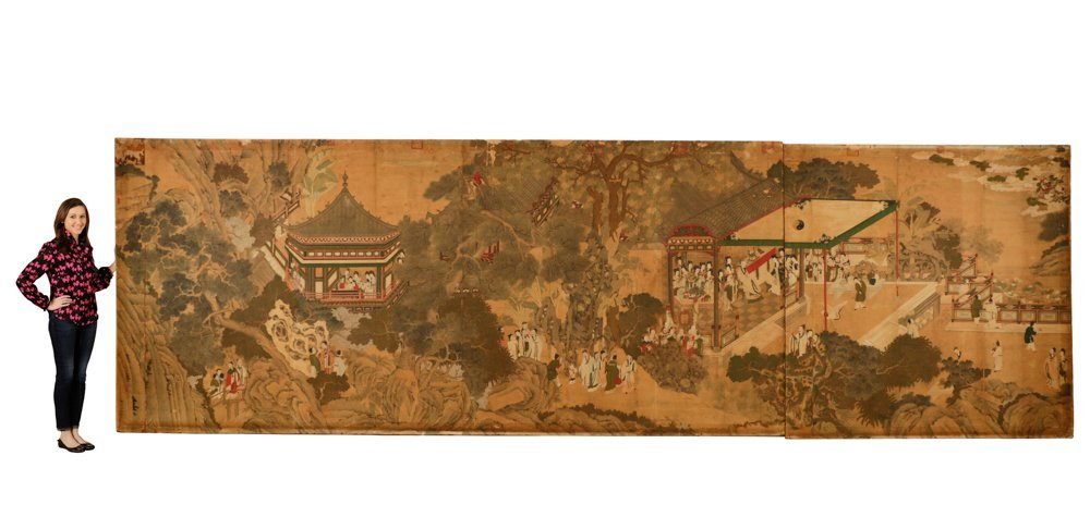 Attr. Qiu Ying, Ming Monumental Painting, 21'