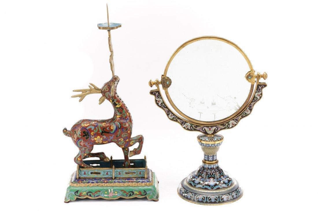 2 Orientalist Cloisonne Decorative Objects