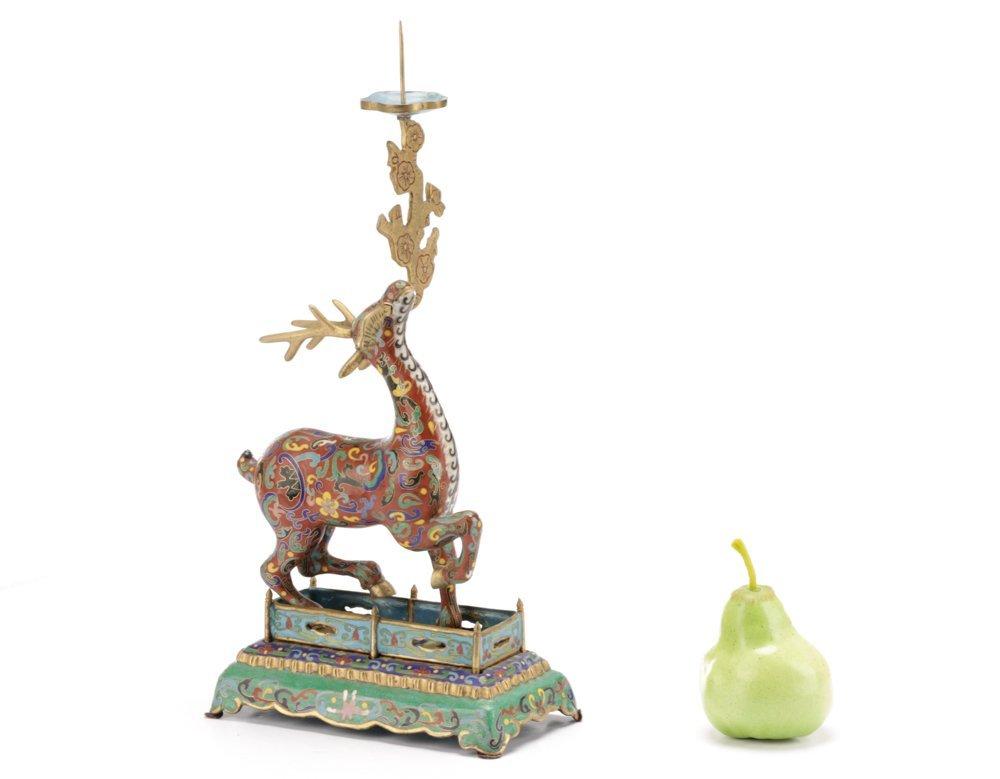 2 Orientalist Cloisonne Decorative Objects - 9