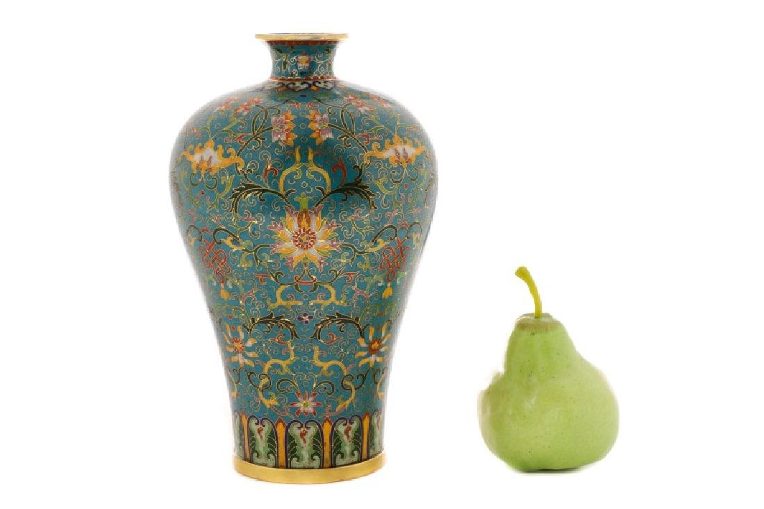 Chinese Late Qing Lao Tian Li Cloisonne Vase - 10