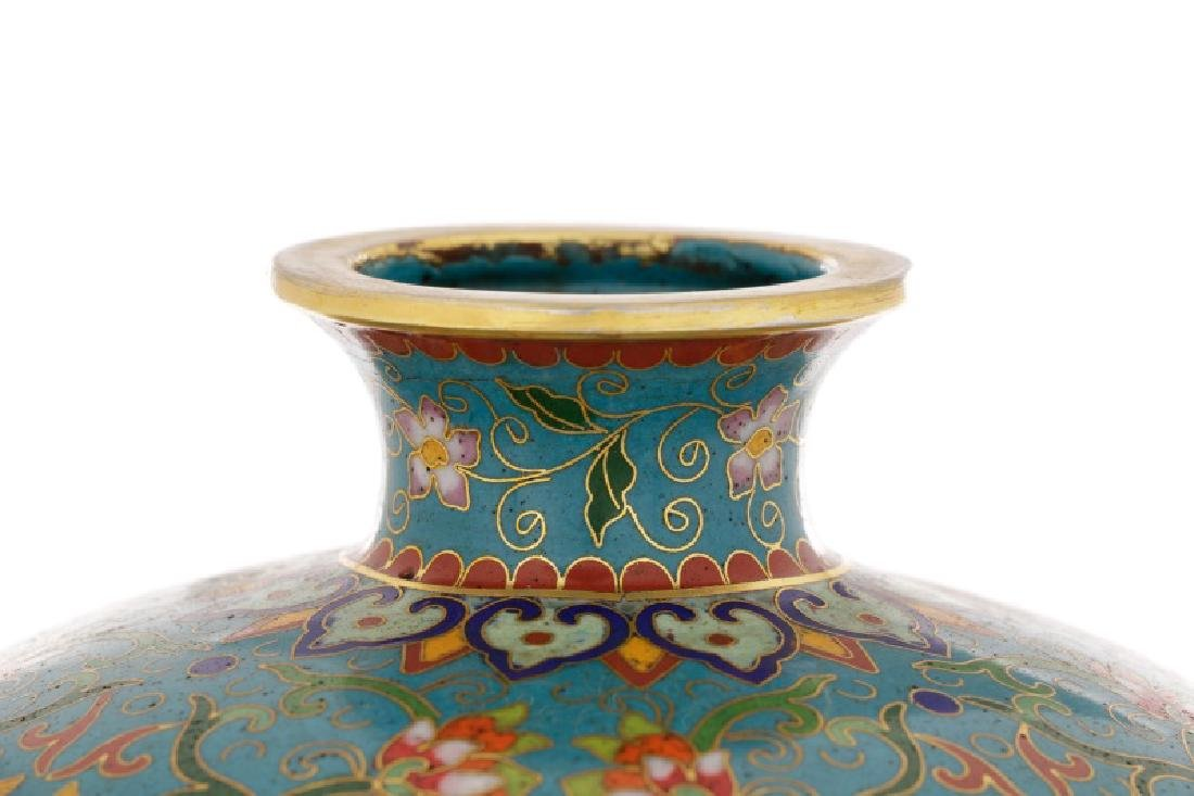 Chinese Late Qing Lao Tian Li Cloisonne Vase - 2