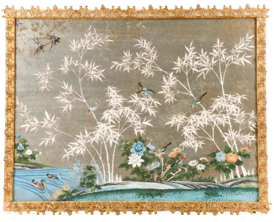 Attributed to Gracie, Hand Painted Wallpaper Panel