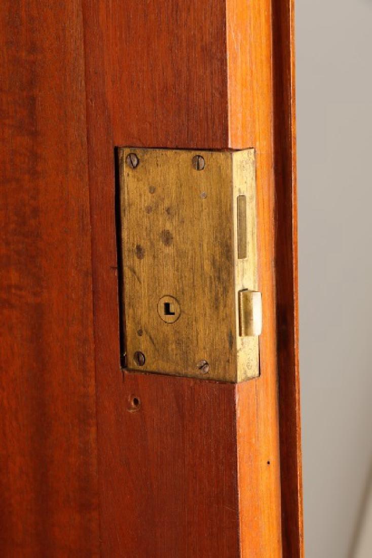 English Triple Door Burl Walnut Wardrobe - 5
