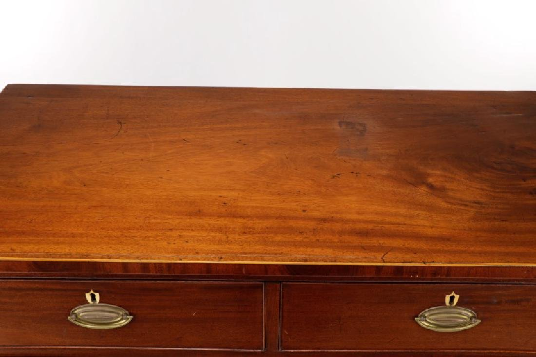 George III Mahogany Five Drawer Chest, L. 18th C. - 3