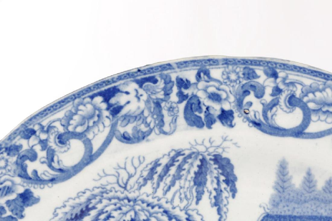 Group of 4 Early Blue & White Earthenware Dishes - 4