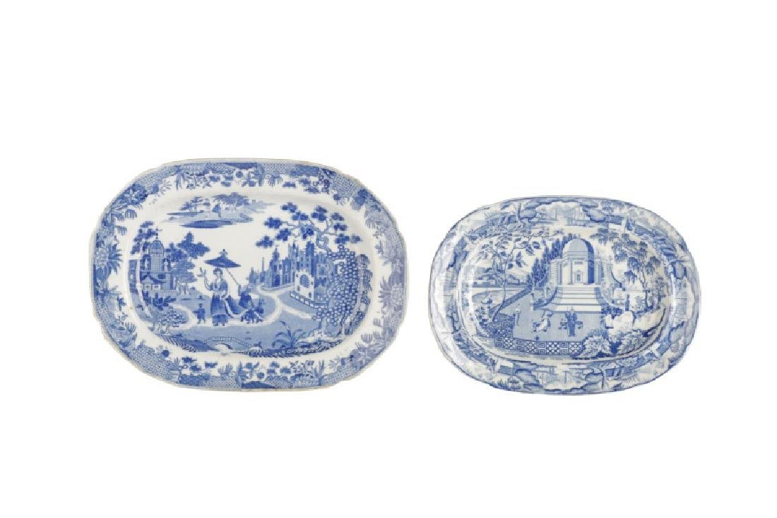Group of 4 Early Blue & White Earthenware Dishes - 7