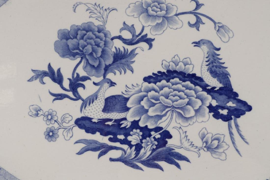 Two Early Blue & White Earthenware Platters - 2