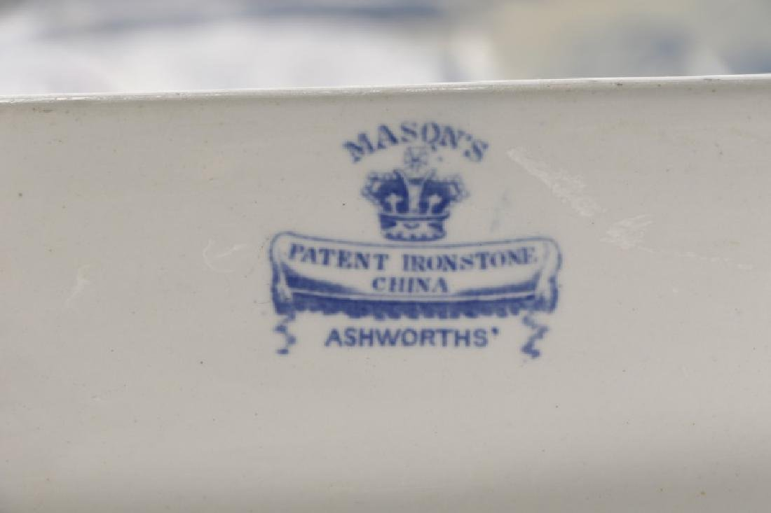 Two Early Blue & White Earthenware Platters - 7