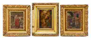 Italian School 3 Miniature Figural Paintings