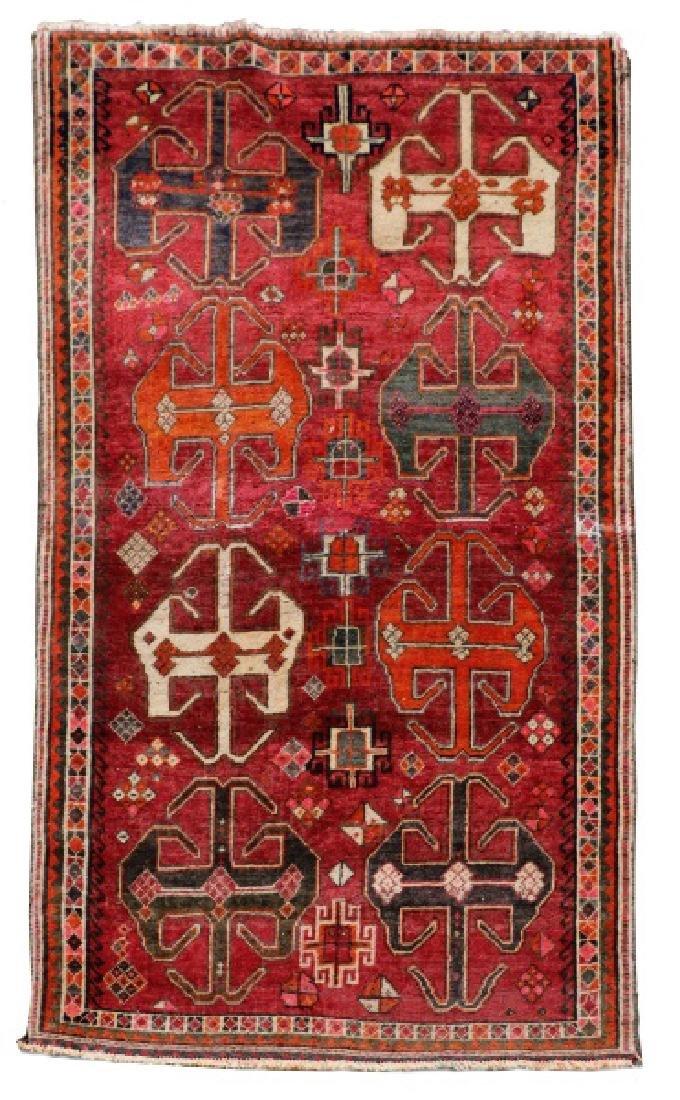 "Hand Woven Persian Tribal Rug, 3' 8"" x 6' 9"""