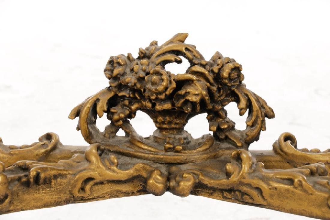 Rococo Style Giltwood & Marble Console Table - 6