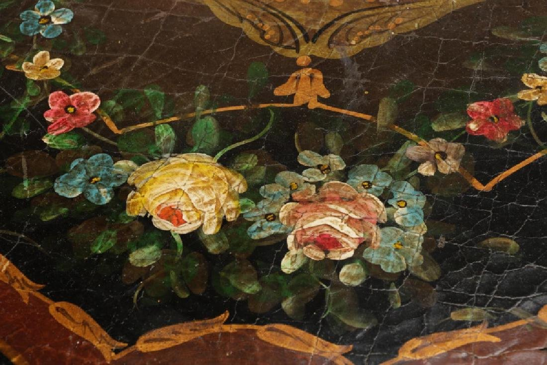 Pair, Renaissance Revival Style Painted Tables - 7