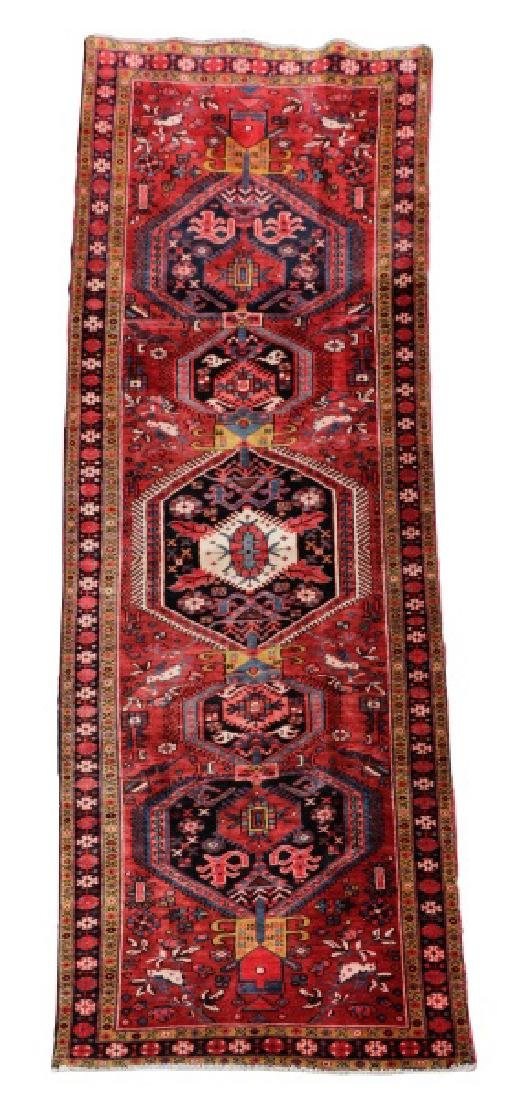 Hand Woven Semi Antique Persian Heriz