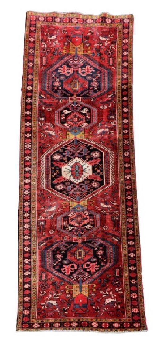 Hand Woven Semi Antique Persian Heriz
