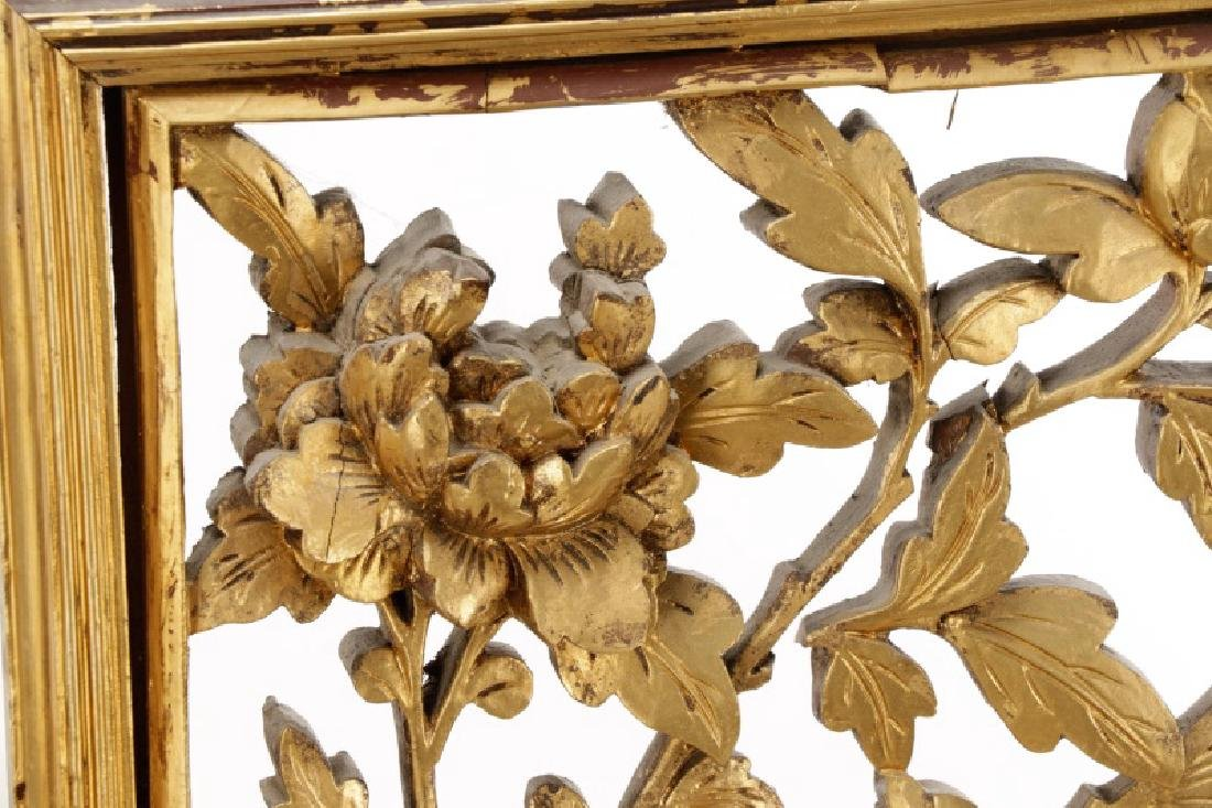 Pair Giltwood Aesthetic Movement Wall Appliques - 2