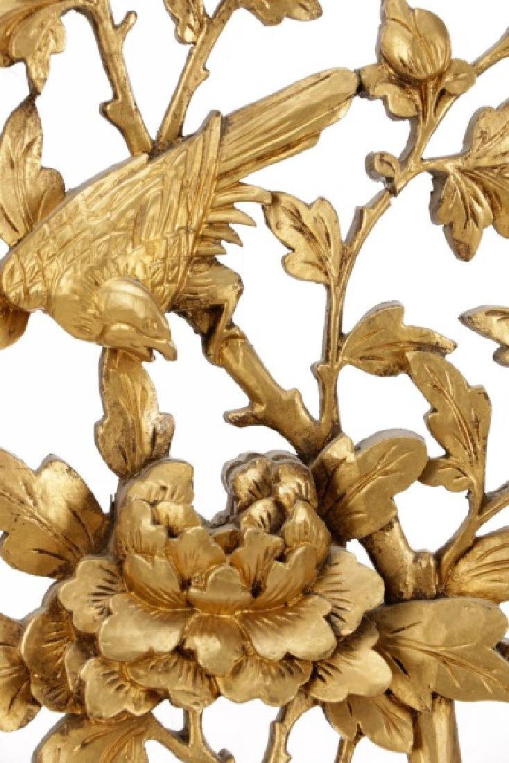 Pair Giltwood Aesthetic Movement Wall Appliques - 7