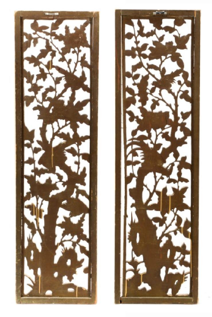Pair Giltwood Aesthetic Movement Wall Appliques - 9