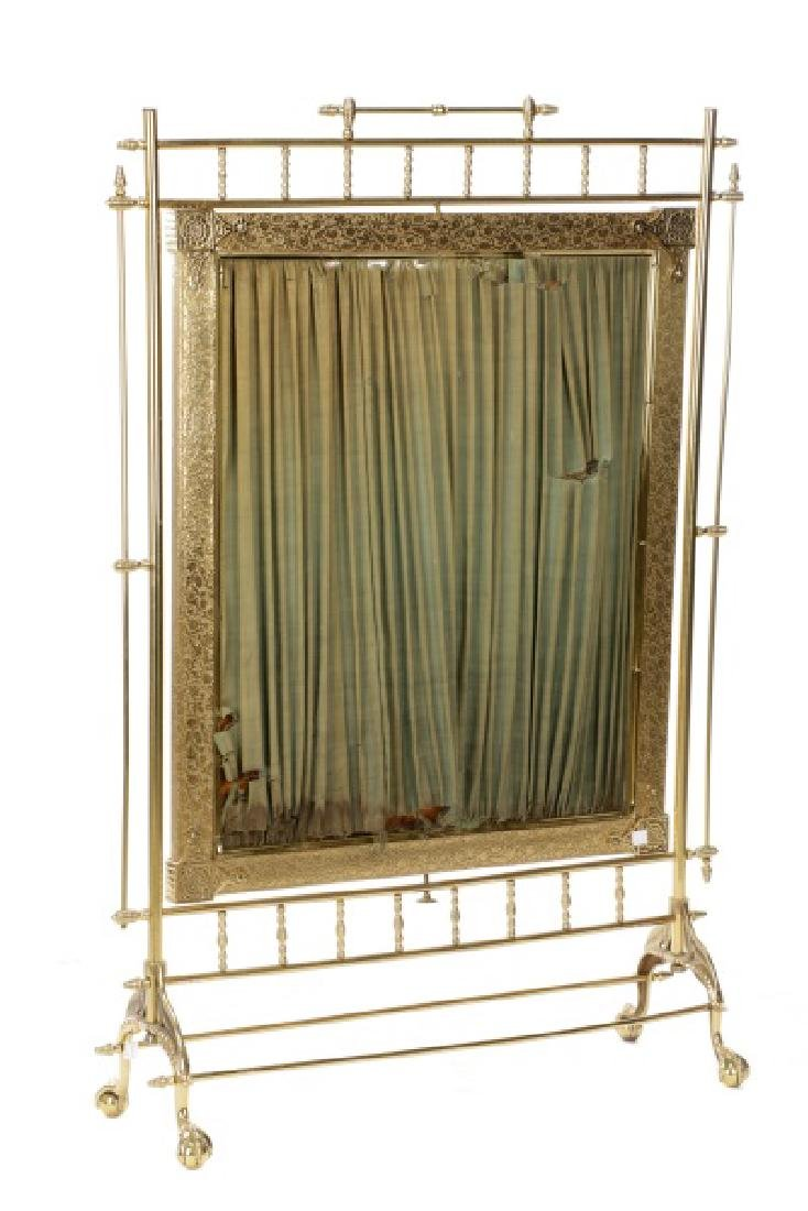 Gilt Brass Aesthetic Movement Style Fire Screen - 3