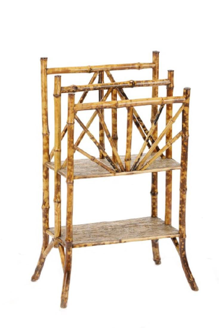 Aesthetic Movement Bamboo Newspaper Rack